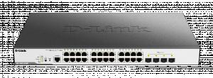 D-Link DGS-3000-28XMP 24xGbE PoE+, 4x SFP+, L2 mng