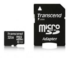 Transcend Micro SDHC karta 32GB Class 10 UHS-I + Adaptér