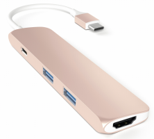 Satechi Type-C USB Passthrough HDMI Hub Rose Gold
