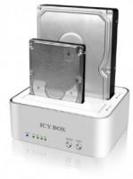 "Docking stanice pro 2x2,5"" and 2x3,5"" HDD pouzdro SATA, USB 3.0, JBOD, bílá barva"