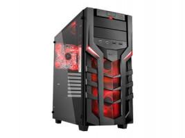 Skříň SHARKOON DG7000-G Red Edition, Midi Tower, bez zdroje
