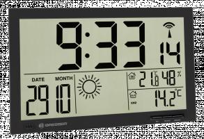 Bresser MyTime Jumbo LCD Nástěnné hodiny, černé