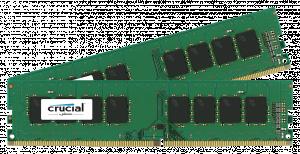 Crucial 2x4GB 2400MHz DDR4 CL17 Unbuffered DIMM