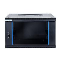 """START.LAN závěsná skříně 19"""" 6U 600x600mm - černá"""