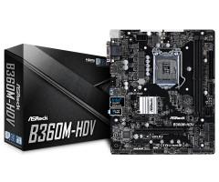 ASRock B360M-HDV Základní deska, Intel B360, LGA1151, 2x DDR4 (max. 32GB), HDMI, DVI-D, VGA, mATX základní deska