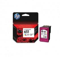 HP 651 Tri-color Original Ink Advantage Cartridge, C2P11AE