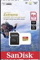 SanDisk microSDXC Action SC 64GB Extr.100MB A1