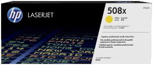HP originální toner CF362X, yellow, 9500str., 508X, high capacity, HP Color LaserJet Enterprise M552dn,M553dn,553n,553x