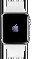 Apple Watch Series 1, stříbrná/bílá, 42 mm