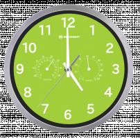 Bresser MyTime Thermo-/ Hygro Nástěnné hodiny 25cm, zelená