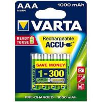 1x4 Varta Rechargeable Accu AAA 1000 mAh Micro