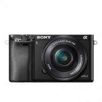 SONY ILCE-6000 Fotoaparát Alfa 6000 s bajonetem E + 16-50mm objektiv - černá barva