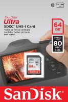 SanDisk Ultra paměťová karta SDXC 64GB čtení: až 80MB/s Class 10 UHS-I
