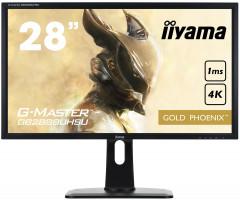 """28"""" LCD iiyama GB2888UHSU-B1 - 1ms, 300cd/m2, 4K, VGA, DP, 3xHDMI, USB, repro, výšk.nastv."""