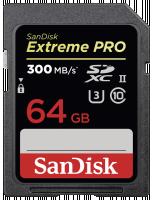 SanDisk Extreme PRO SDHC 64GB 300MB UHS-II Paměťová karty