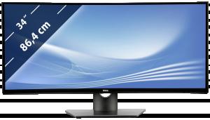 Dell U3417W IPS Ultra monitor - zahnutý