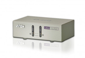 ATEN 2-Port USB KVM with Audio | KVM Cable included (CS72U-AT)