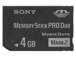 SONY MSMT4GN Memory Stick pro DUO Mark 2 4GB