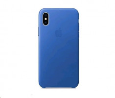 Apple iPhone X kožený obal Electric modra