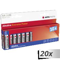 AgfaPhoto 20x10 Mignon AA LR 6 Alkalické baterie