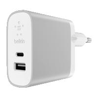 Belkin USB-C + USB-A 230V 5V/3A,15W nabíječka,bílá