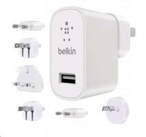 BELKIN Univerzální cestovní USB nabíječka, 6 koncovek, bílá (12 watt, 2.4A)