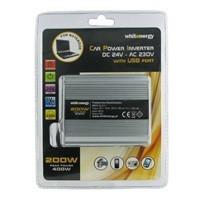 Napěťový měnič DC/AC 24V/230V 200W, USB
