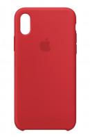 Apple iPhone X Silikonový obal Červený