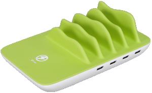 XLayer 212731 4-portová USB a bezdrátová nabíječka