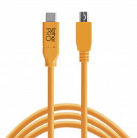 Tether Tools USB-C to 2.0 Micro-B 4,6m oranžový
