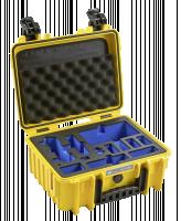 B&W Copter Case Type 3000 yellow s DJI Mavic Air Inlay