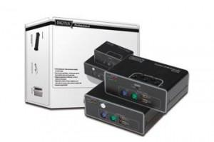 Digitus KVM Extender USB a PS/2, 1 Local+1 Rem, až 200m