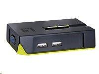 LevelOne KVM-0221 - Prepínac KVM / audio - USB - 2 x KVM / zvuk - 1 místní uživatel - desktop