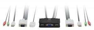 LevelOne KVM-0223 2 Port USB Kabel KVM-Switch - včetně kabelů