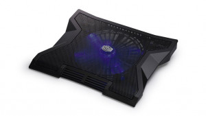 "COOLERMASTER chladicí ALU podstavec NotePal XL pro NTB 9-17"" black, 23cm blue led fan, 3port USB hub"