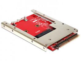 Delock 62495 IDE 44 Pin > mSATA, konvertor s rámečkem