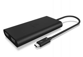 Adapter IcyBox Grafiksplitter 1x Thunderbolt -> 2x HDMI Bu. retail