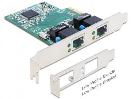 Delock 89358 2 x Gigabit LAN, PCI Express karta