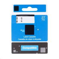 PRINTLINE kompatibilní páska s DYMO 53715, S0720950, 24mm, 7m, červený tisk/bílý podklad, D1