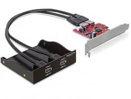 """Delock 3.5"""" přední panel s 2x USB 3.0 porty + PCI Express adaptér"""