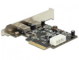 Delock PCI Express Karta > 2 x externí SuperSpeed USB 10 Gbps (USB 3.1, Gen 2) typ A samice