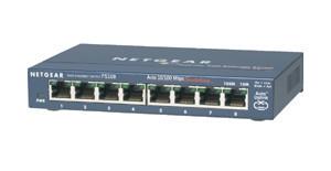 Netgear ProSafe 8-Port 10/100 Switch Metal External Zdroj (FS108 v3)