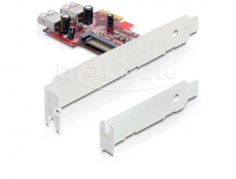 DeLock PCI Express x1 USB 3.0 (2x interní) , NEC, + low profile