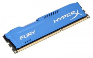 HyperX Fury 4GB 1600MHz DDR3 CL10 (10-10-10-30), modrý chladič (HX316C10F/4)