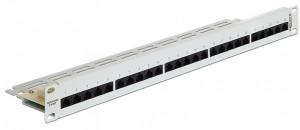 "Delock 19"" Patch Panel 25 Port Cat.3 ISDN grey"