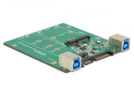 Delock konvertor SATA / USB 3.1 Type-B samice > M.2 / mSATA Slot
