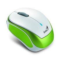 GENIUS myš MicroTraveler 9000R V2/ 1200 dpi/ bezdrátová/ dobíjecí/ bílozelená (31030112100)