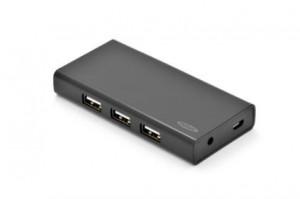 Ednet USB 2.0 hub 7-portů černý s napájecím zdrojem