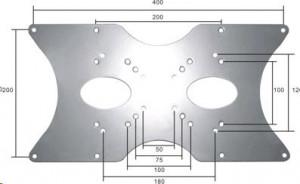NewStar FPMA-VESA400 - Upevňovací komponent ( deska adaptéru ) pro televize LCD - stříbrná - veliko