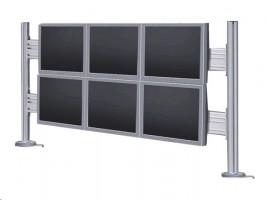 NewStar FPMA-DTB200 - Upevňovací komponent ( stojan na pracovní stůl ) pro 6 LCD displays - stříbrn